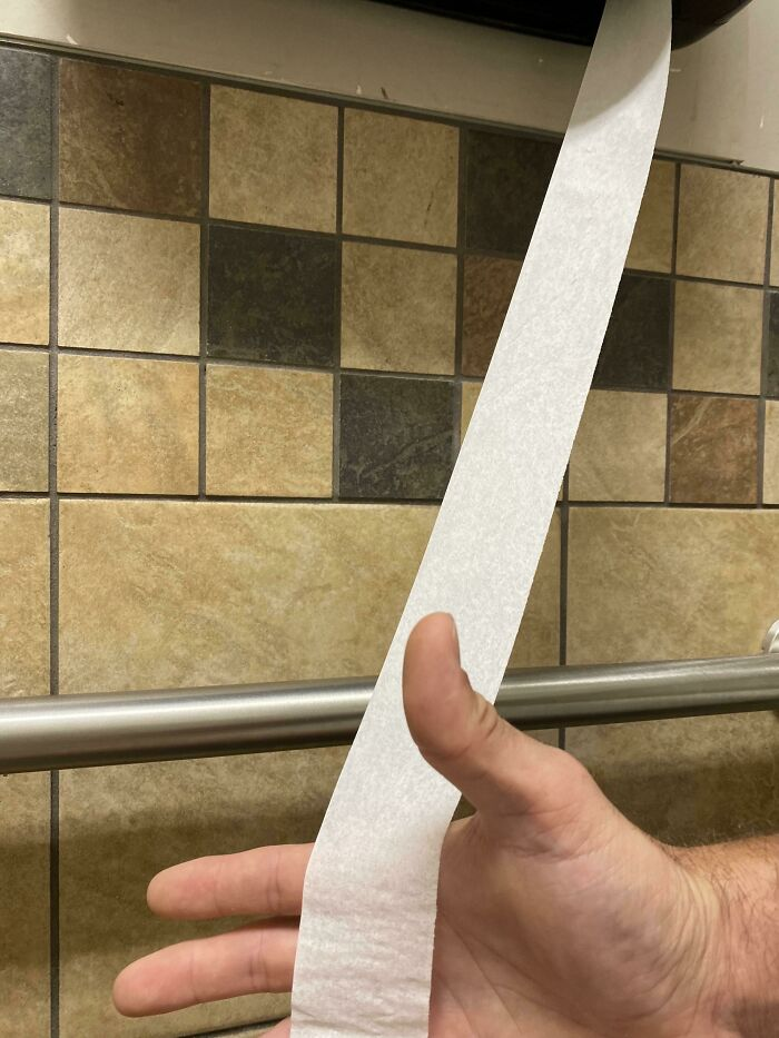 Gas Station Toilet Paper About The Width Of An iPod Shuffle