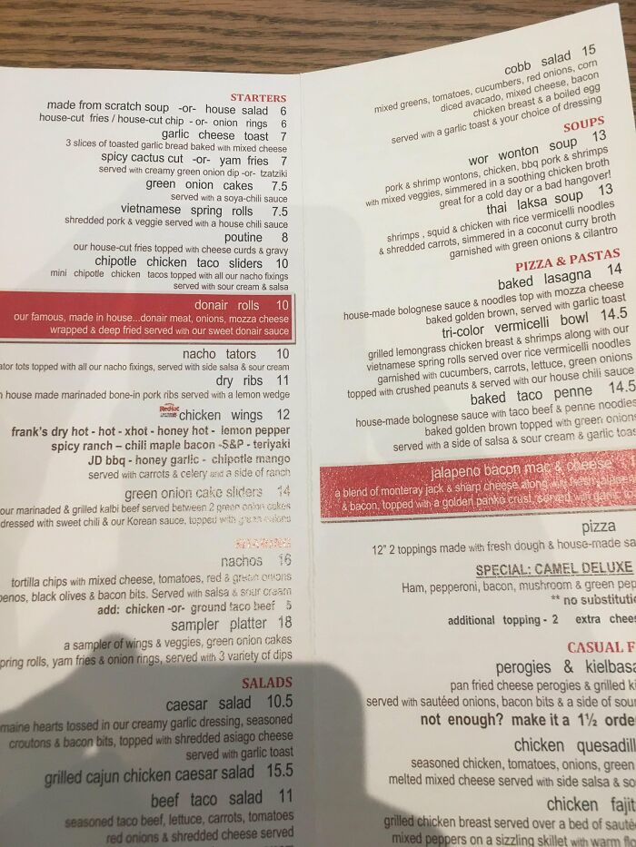 This Menu That Seems To Be Upside Down At First Look