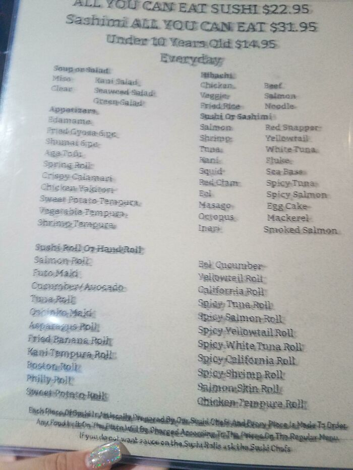 This Picture Isn't Blurry, That's How The Menu Looks