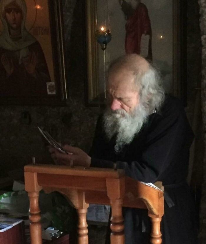 My Girlfriend's Uncle Took A Photo Of This Monk At A 13th Century Monastery