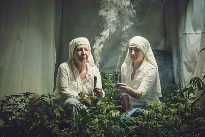 Power From On High: Two Weed Farming Nuns