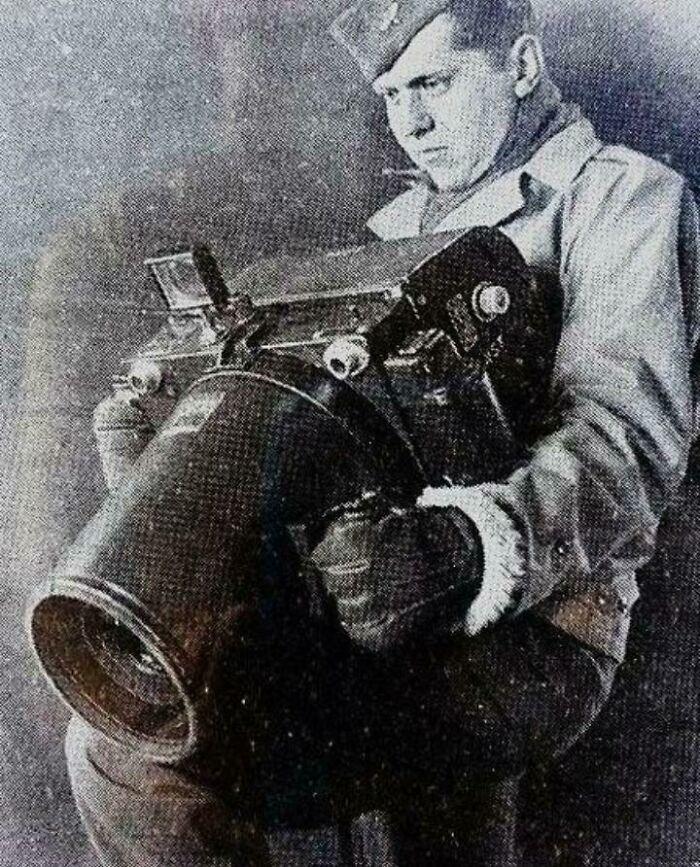 Cámara Kodak K-24, usada por EEUU para hacer fotos aéreas durante la 2ª Guerra Mundial