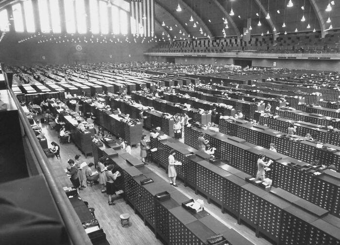 Archivos de huellas dactilares del FBI en 1944