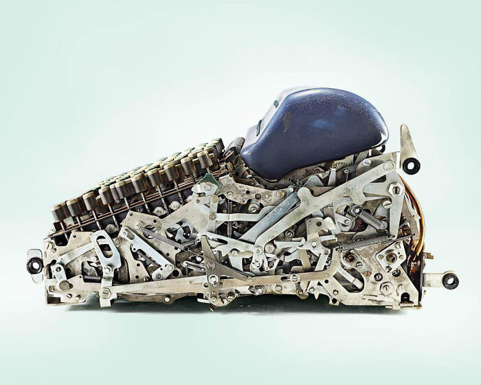 Interior de una antigua calculadora