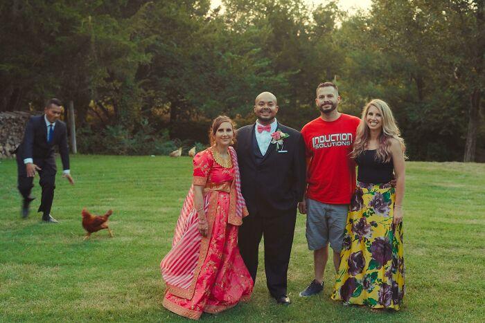 Photobombed My Brother's Wedding Photos