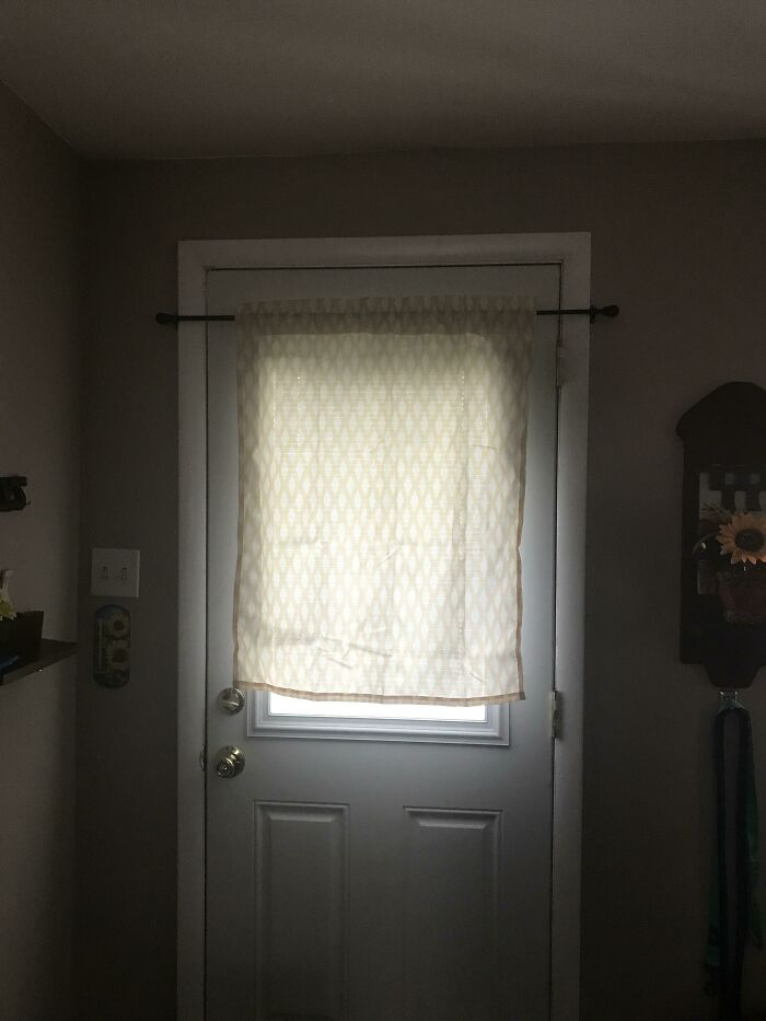 Intenté poner una cortinilla y me di cuenta demasiado tarde de lo que había hecho