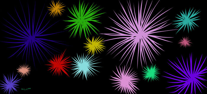I Love Fireworks So Much! I Did This When I Was Bored In Class