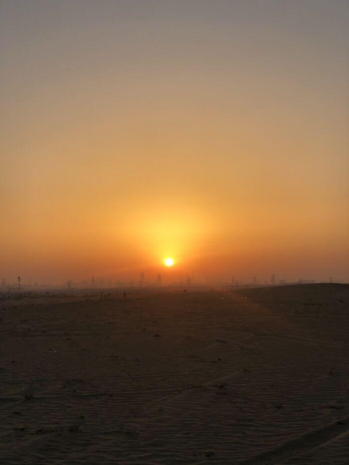 A Sunset In The Desert