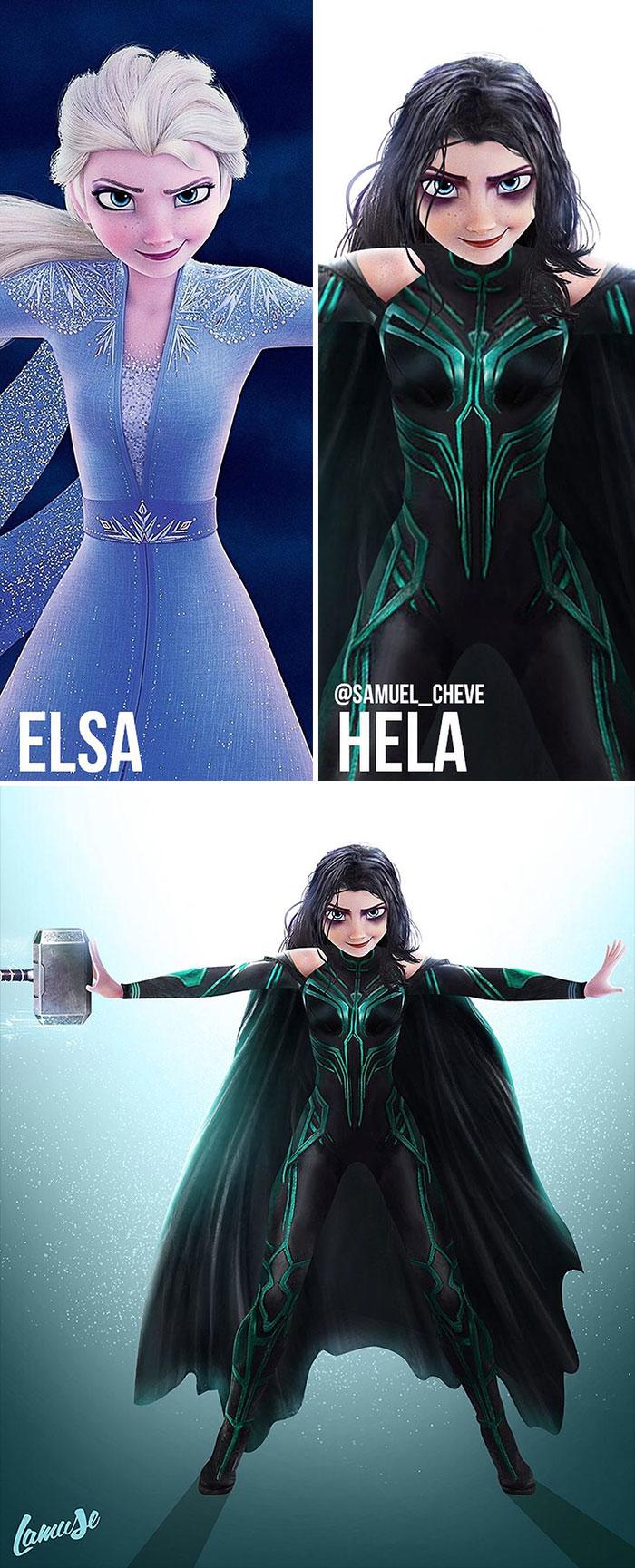 Elsa And Hela