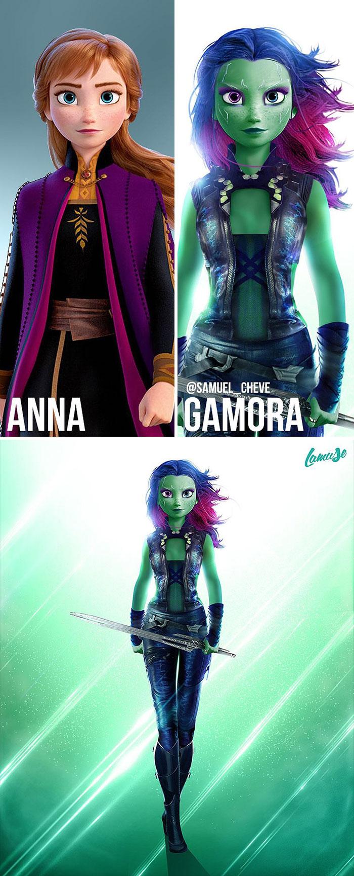 Anna And Gamora