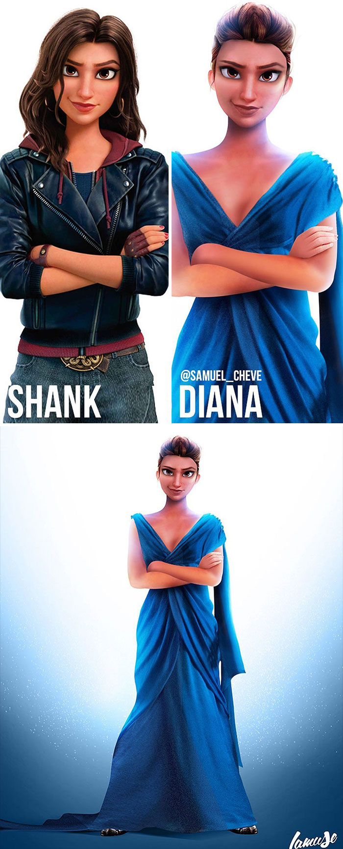 Shank And Diana 'Wonder Woman'
