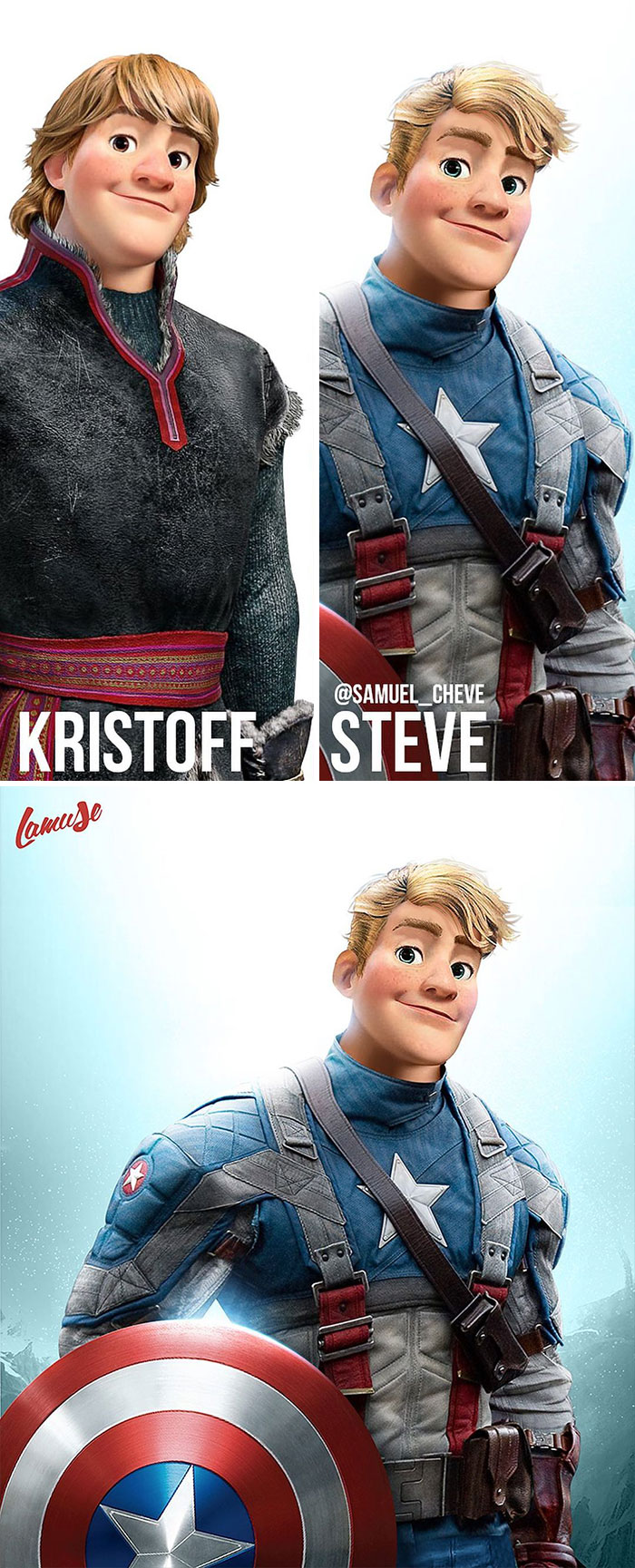 Kristoff And Steve Rogers 'Captain America'