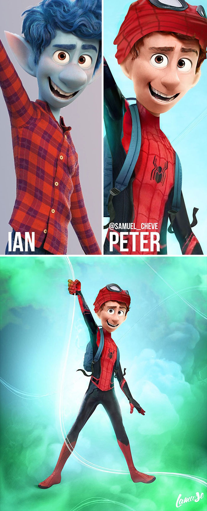 Ian And Peter Parker 'Spiderman'