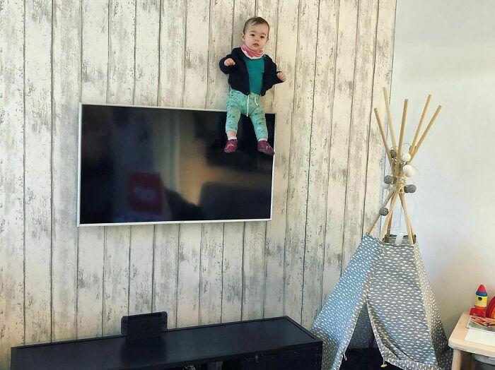Mira papá, estoy en la tele