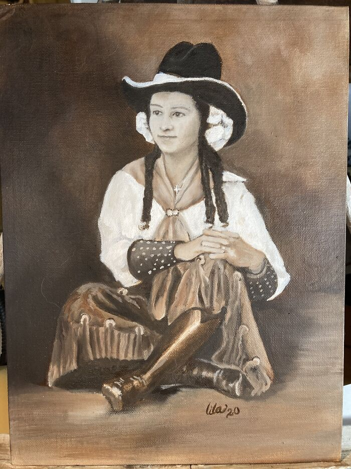 An Oil Portrait I've Done Of A Friend's Great Grandmother