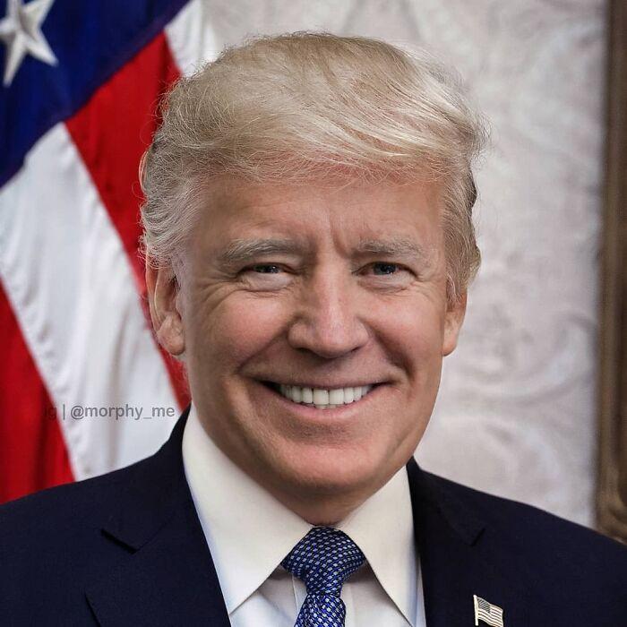 Donald Trump + Joe Biden