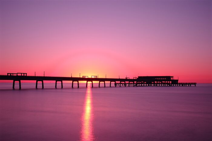 Sun Rise That I Took Over Deal Pier In Kent.