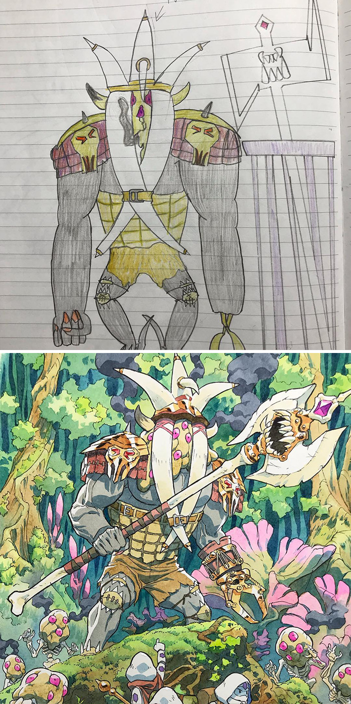 Father Transformed The Drawings Of Incredible Children Animes