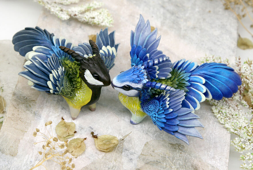 Great Tit And Blue Tit Dragons
