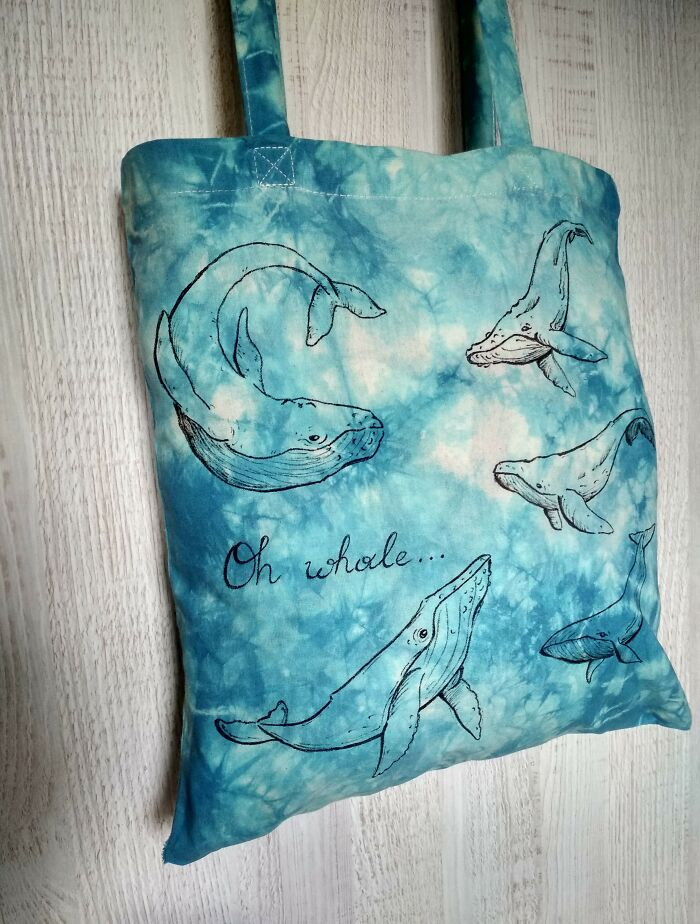 Oh Whale... A Blue Totobag I Made To Give Up Plastic Bags.