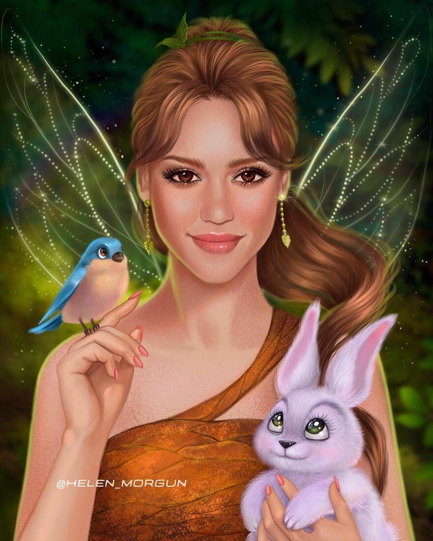 Jessica Alba As Fairy Fawn
