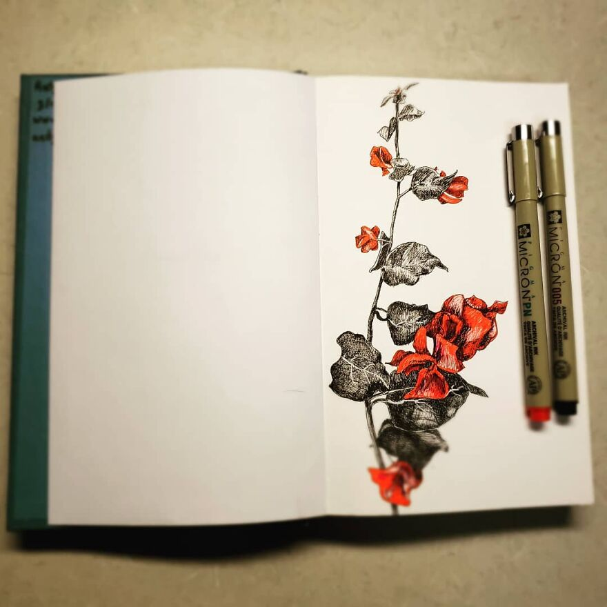 Flowers In Ink