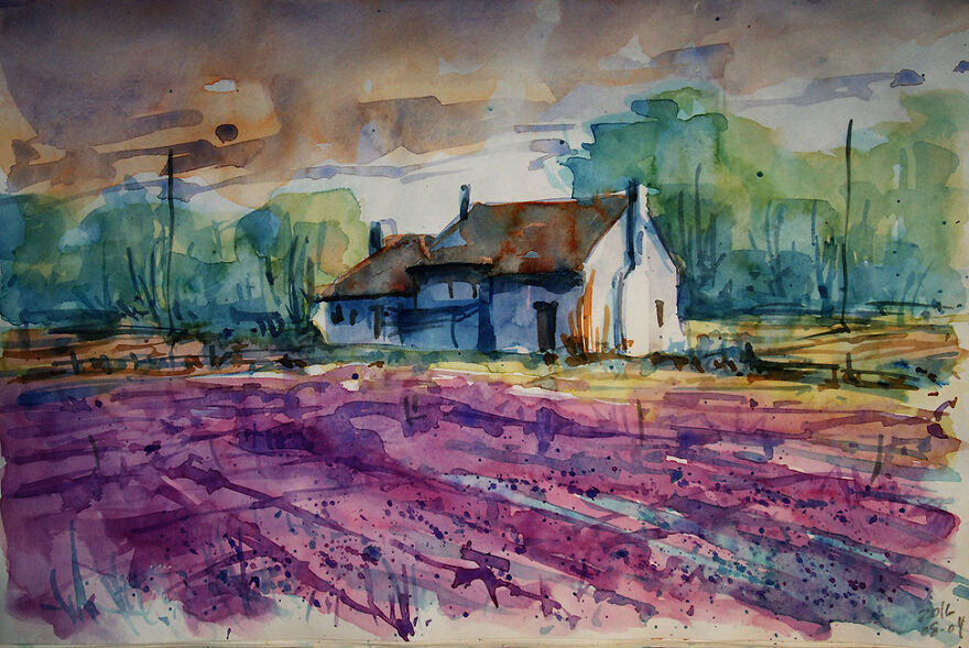 My Watercolors Show The Beauty Of Abandoned Places
