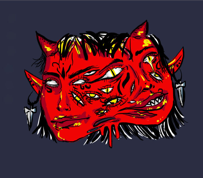 A Demon Lady- I'm Not Very Good With Digital Art Yet, But It Was The First Digital Drawing I Was Proud Of