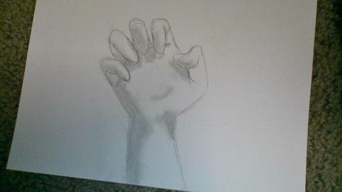 A Semi-Realistic Hand I Drew