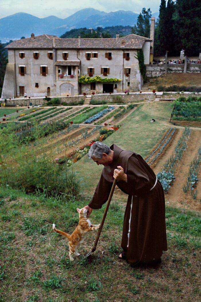 A Monk In Italy. (Photographer: Steve Mccurry)