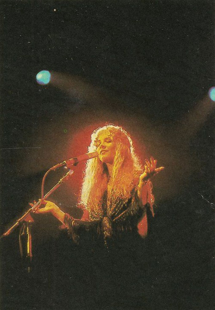 Stevie Nicks Photographed At A Fleetwood Mac Concert In 1978