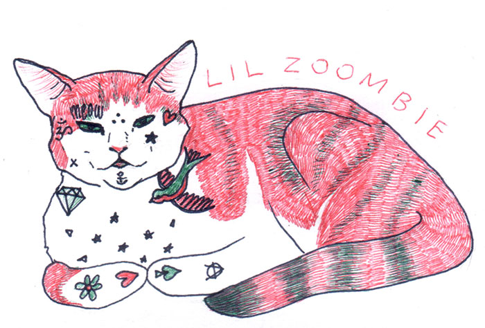 For Inktober, I Imagined My Cat As Being 37 Different Names That I Call Her