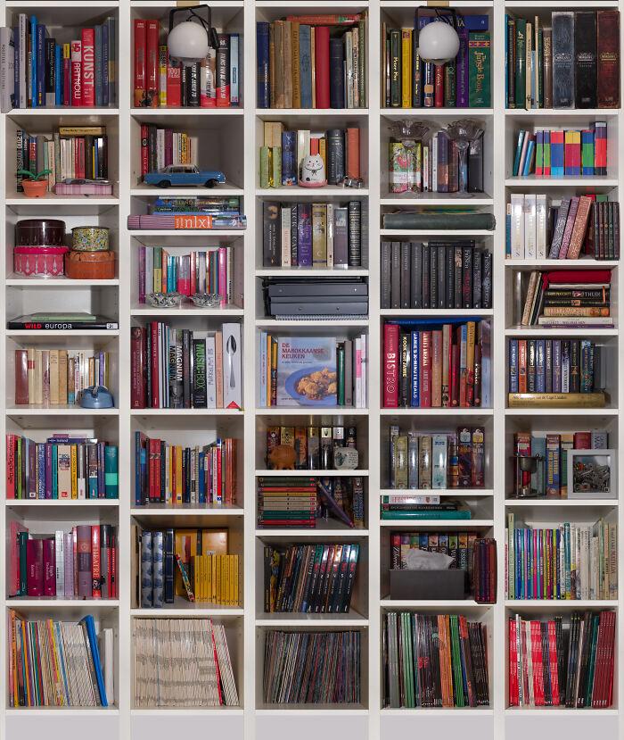 Bookcase Photo Composition