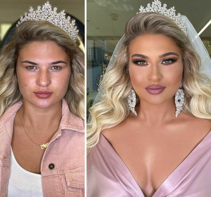 30 Women Before And After Their Bridal Makeup By Arber Bytyqi (New Pics)