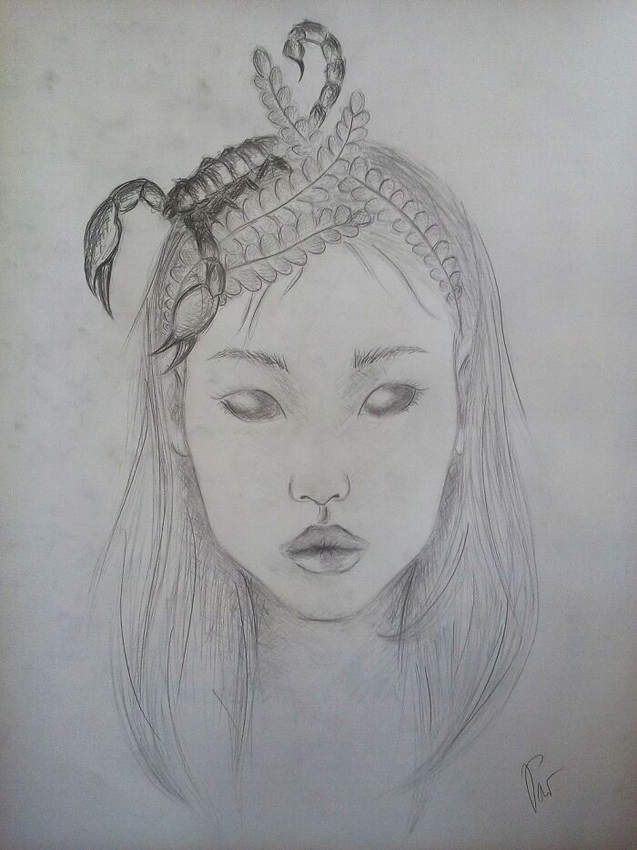 This Pretty, Alien(Ish) Girl Might Be My Favourite Drawing