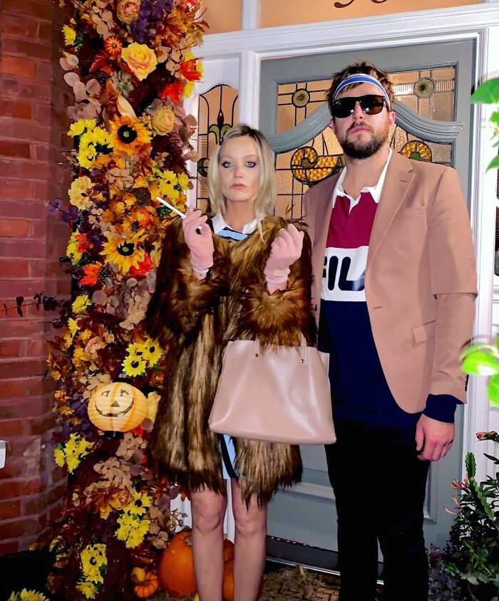 Laura Whitmore And Iain Stirling As The Royal Tenenbaums