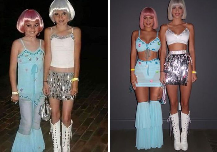 Kendall And Kylie Jenner As They Recreated Their Childhood Halloween Outfits