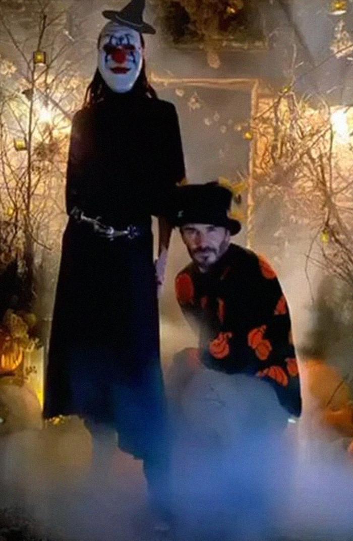 Victoria Beckham As A Creepy Clown