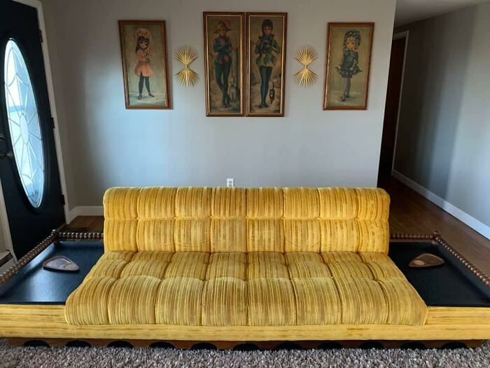 Since Everyone Is Posting Their Cool Secondhand Couch. Here Is Ours Got This Beauty About 2 Years Ago At A Local Thrift Shop