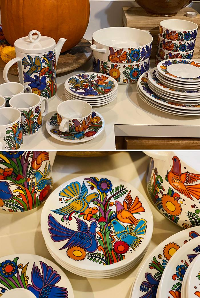 """My Friend Added Me To This Group Just So I Could Share This Amazing Find From The Renew/Reuse Emporium In St. Thomas, Us Virgin Islands. Vintage Villeroy & Boch, Style Called """"Acapulco"""". I Am Wild About These Birds!"""