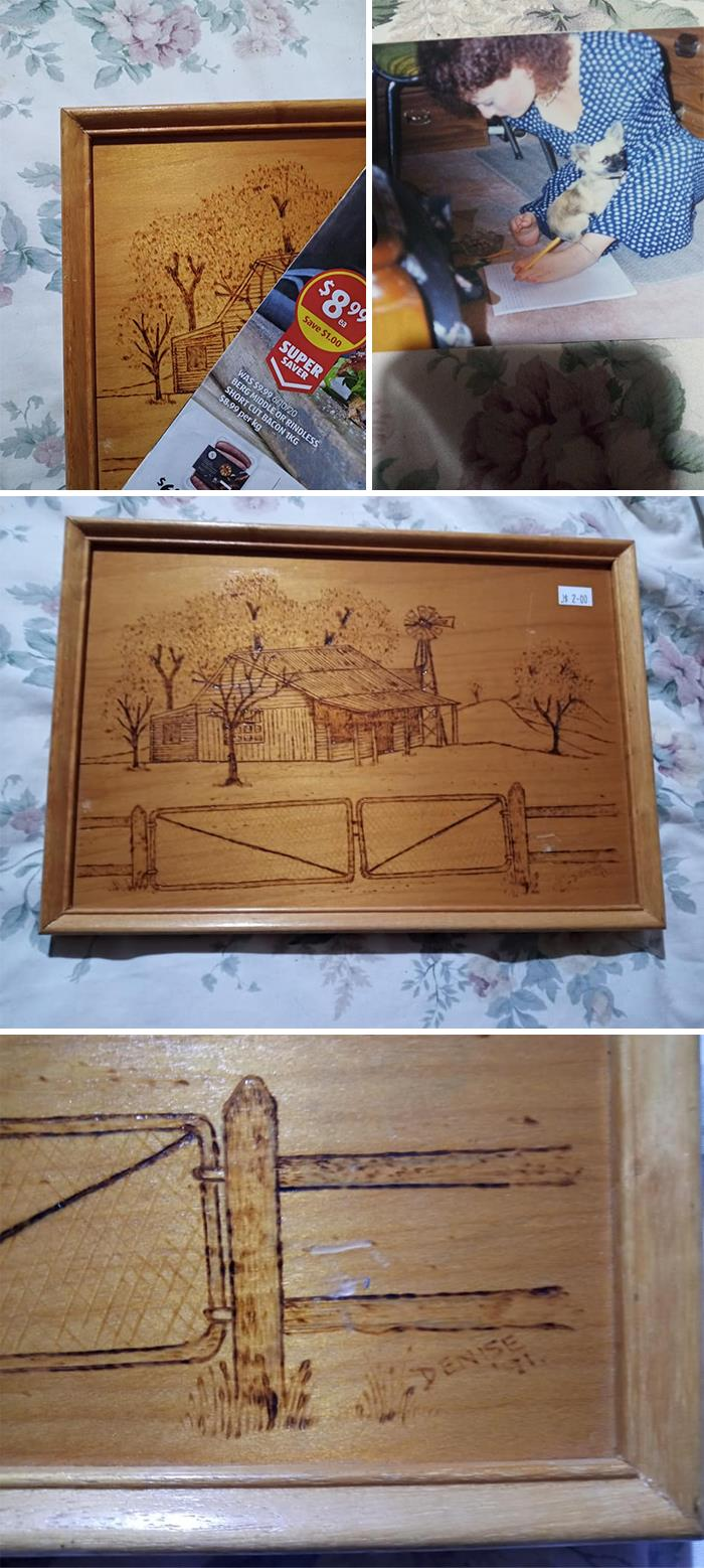 So This Happened Today.. I Work For A Major 2nd Hand Store In Australia, This Morning While Opening Up The Store I Stumbled Across The Corner Of This Woodburning Sticking Out