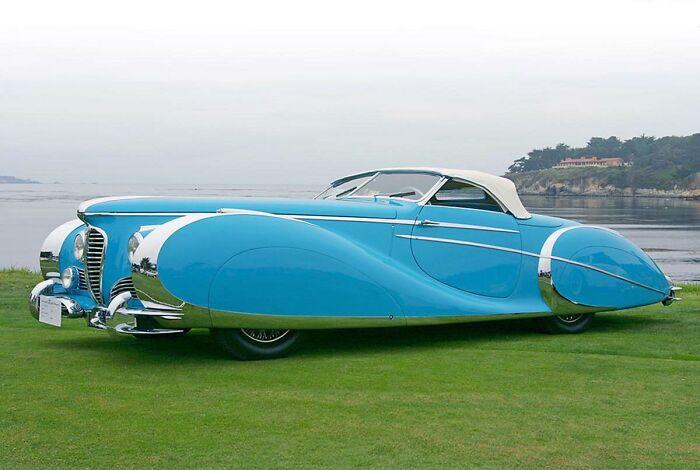 """Coche """"Delahaye 175s Roadster"""" presentado en 1949. Solo se fabricó uno y se vendió en subasta recientemente por 5$ millones"""