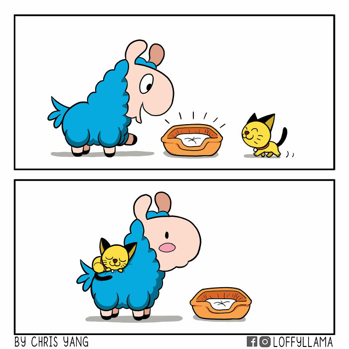 I Created A Wholesome Comic Series Featuring A Blue Llama(15 Pics)