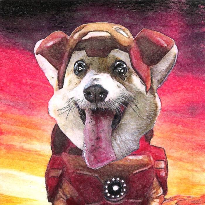 "I Make Superhero ""Derp"" Dog Portraits"