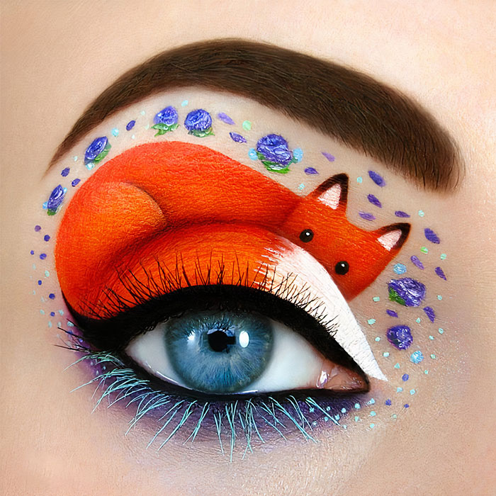 Artist Creates Magical Scenes Using Her Eyelids As A Canvas (40 Pics)