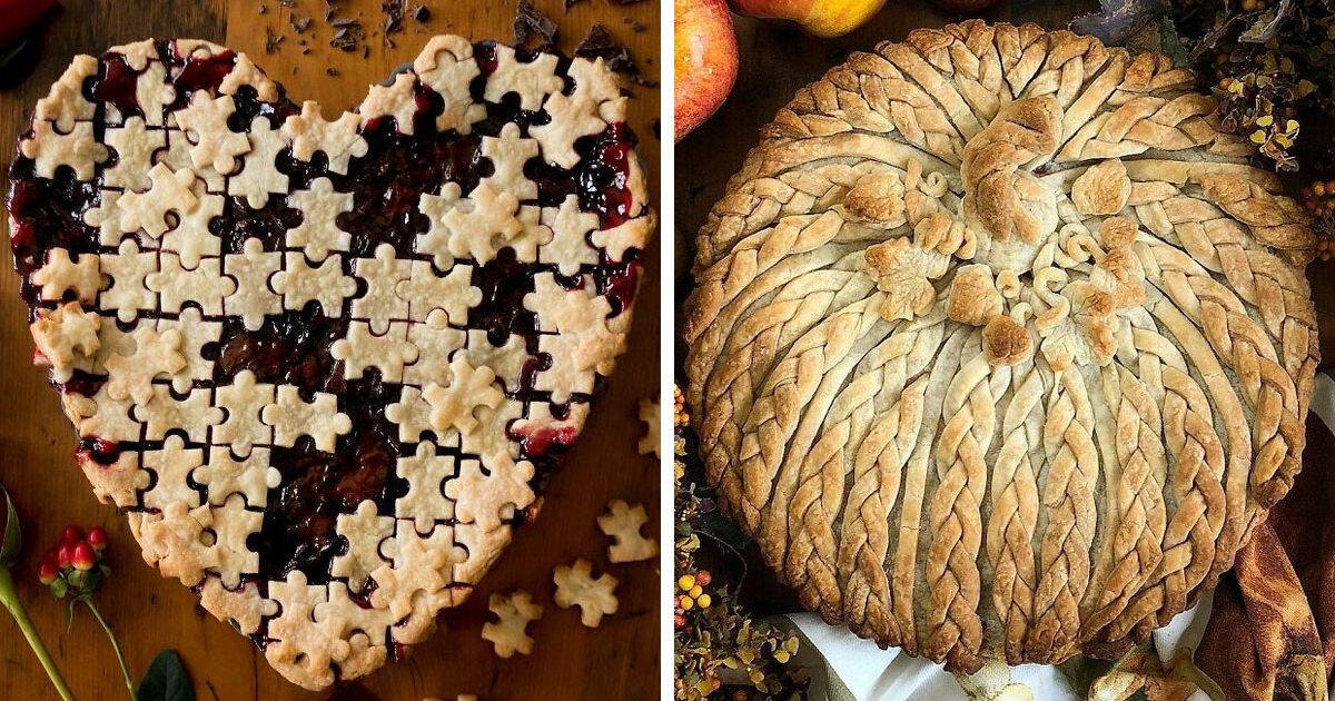 Woman Bakes Beautiful Pies That Would Steal The Show At Every Thanksgiving Table (47 Pics)