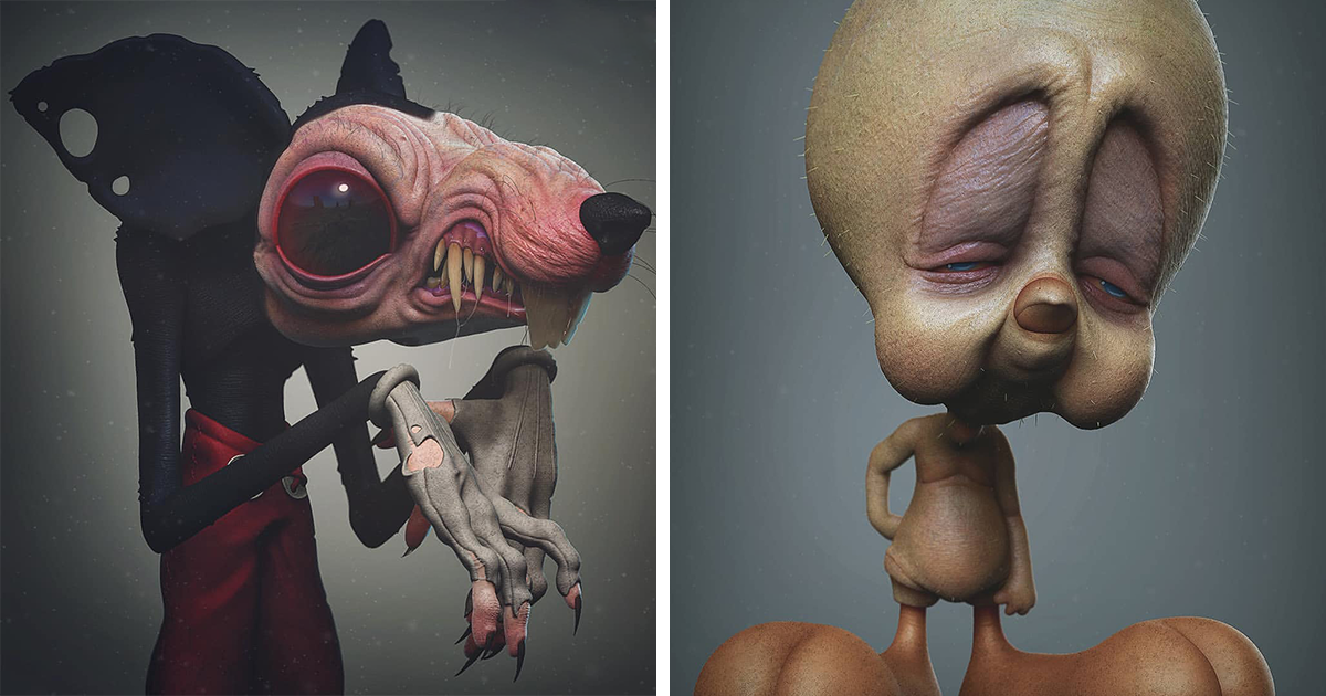 This Artist Shows How Pop Culture Icons Would Look In Real Life, And It Might Give You Nightmares (19 New Pics)