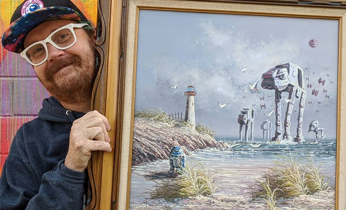 Artist Adds 'Star Wars' To Boring Thrift Store Paintings