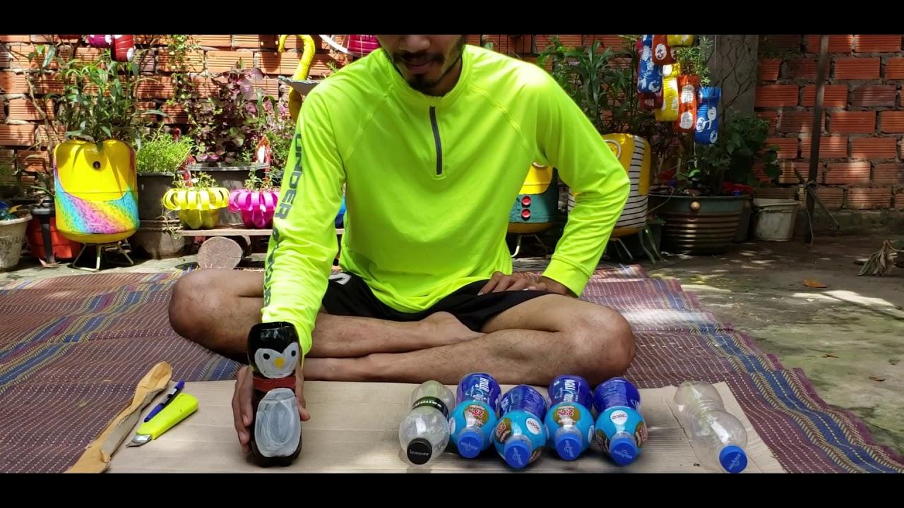 Bottles Penquin Flower Pots