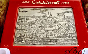 My Mom Jokingly Sent Me An Etch-A-Sketch For Christmas Two Years Ago, I've Been Killing Time Trying To Figure Out Those Dials To Create Art (19 Pics)